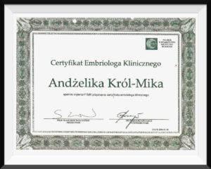 certyfikat akrol mika
